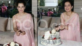 Kangana Ranaut Cuts Her Birthday Cake With The Media