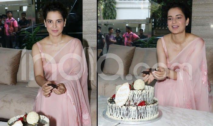 Kangana Ranaut Cuts Her Birthday Cake With The Media