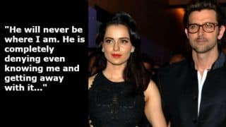 Kangana Ranaut vs Hrithik Roshan: Actress Says 'he Can Never be Where I am' Commenting on The Controversy