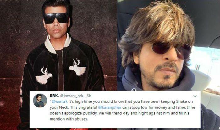 Karan Johar Faces Flak For Liking Anti-Shah Rukh Khan Tweet