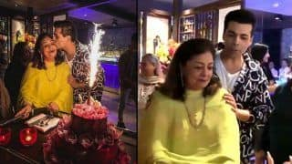 Karan Johar's Mother Hiroo Johar Gives an Emotional Speech at Her Birthday Party as Her Son Stays Busy Chatting up - Watch Viral Video