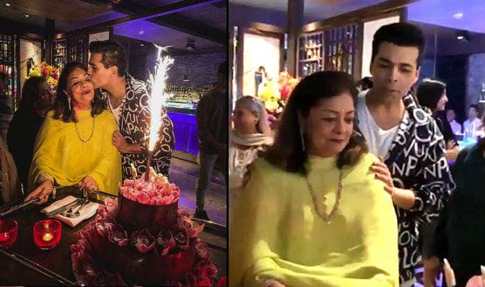Karan Johar's Mother Hiroo Johar Gives an Emotional Speech at Her Birthday Party as Her Son Stays Busy Chatting up – Watch Viral Video