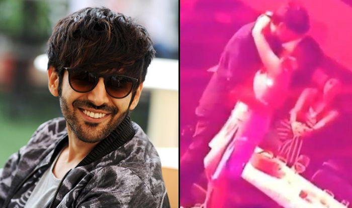 Kartik Aaryan reacts on viral kiss video with Sara Ali Khan