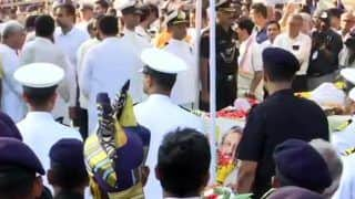 Manohar Parrikar Final Journey Updates: Late Goa CM Cremated With Full State Honours at Marimar Beach, Son Utpal Lights Funeral Pyre