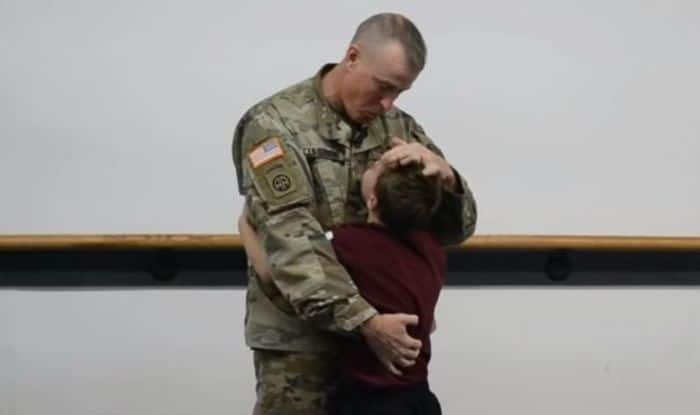 Military Dad Surprises Son While Blindfolded at Taekwondo Class, Video Will Have You in Tears