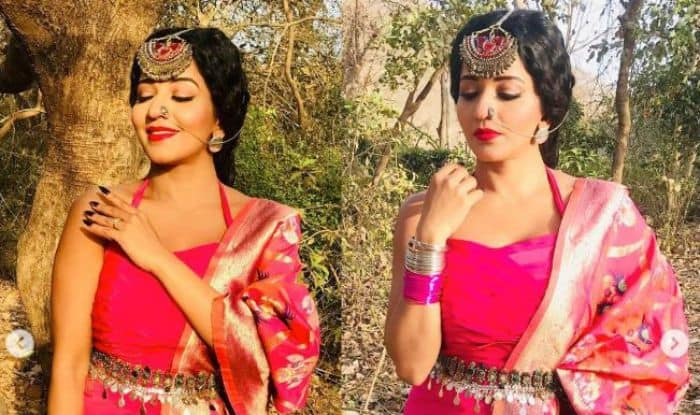 Bhojpuri Hotshot Monalisa Shares a New Look of Nazar's Mohona, Looks Hot in Pink And Don't Miss Her Big Mangtika