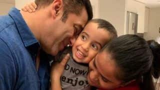 Salman Khan Closes His Eyes And Smirks as he Cuddles His Nephew Ahil, Arpita Khan Shares Adorable Picture With Brother And Son