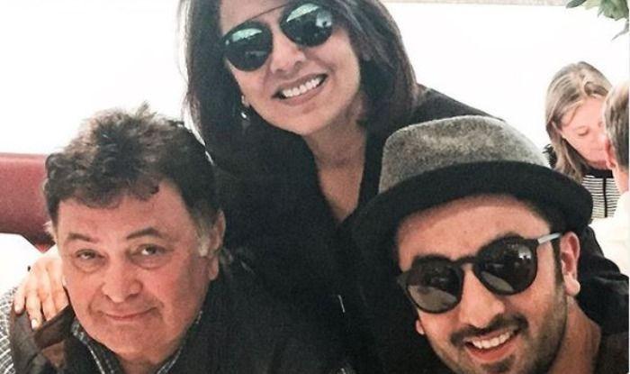 Rishi Kapoor, Neetu Kapoor, Ranbir Kapoor