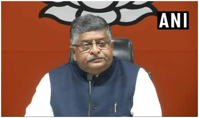 'Ravi Shankar Prasad, Go Back', Group of BJP Workers Raise Slogans Against Union Minister at Patna Airport – Watch Video