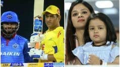 धोनी को देख बेकाबू हुई दिल्ली, बेटी जीवा बोली- Go पापा Go... VIDEO