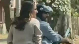 Sara Ali Khan And Kartik Aaryan Spotted on a Bike as They Shoot For Their Next Film Love Aaj Kal 2
