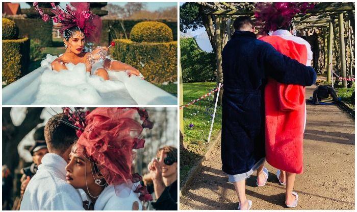 Priyanka Chopra-Nick Jonas Set Temperatures Soaring With Pictures of Warm Hug After 'Glam Bath', BTS Video of 'Sucker' Breaks Internet