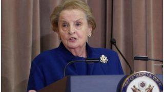 U.S. की पूर्व विदेश मंत्री अलब्राइट ने कहा- अमेरिका ध्यान दे भारत-पाक में हालात बेकाबू न होने पाए