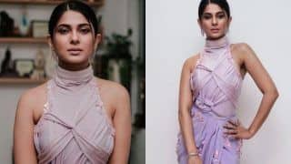 Jennifer Winget in a Sexy High Slight Lilac Gown Sets Temperature Soaring, See Hot Picture