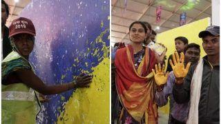 Kumbh 2019: प्रयागराज में बना दूसरा विश्व रिकार्ड, 'जय गंगे' थीम की बनाई पेंटिंग