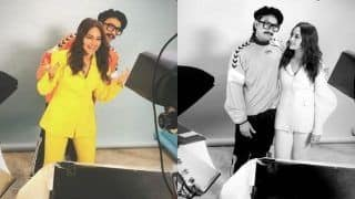 Ranveer Singh Surprises His Lootera Co-Star Sonakshi Sinha During Her Photoshoot, Duo Poses Together