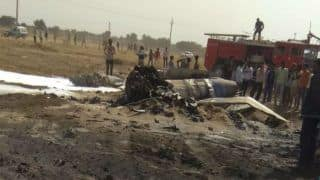 IAF Fighter Jet MiG-21 Crashes at Shobhasar Village Near Rajasthan's Bikaner, Pilot Ejects Safely