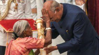 President Kovind Gives Away Padma Awards, Goes Back With Blessings From Vriksha Mathe Saalumarada Thimmakka