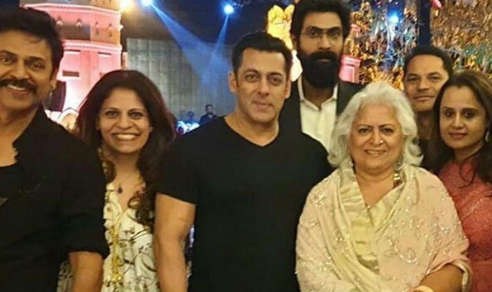 Salman Khan, Bina Kak, Rana Daggubati Attend Pre-wedding Function of Venkatesh Daggubati's Daughter in Jaipur