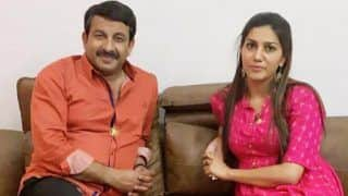 Photos of Sapna Choudhary With Manoj Tiwari Come Out Day After She Denied Joining Congress Party