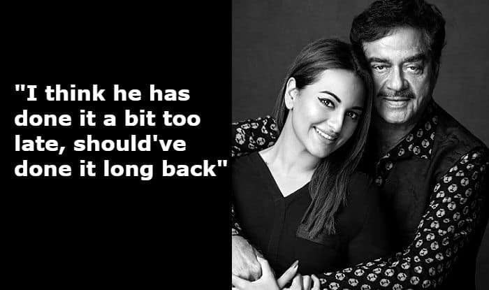 Sonakshi Sinha Breaks Silence on Father Shatrughan Sinha Leaving BJP And Joining Congress Ahead of Lok Sabha Elections 2019