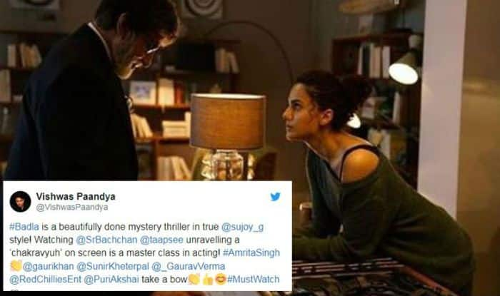 Badla Twitter Review: Amitabh Bachchan And Taapsee Pannu's Film Gets a Thumbs up, Viewers Say Amazing Suspenseful Film