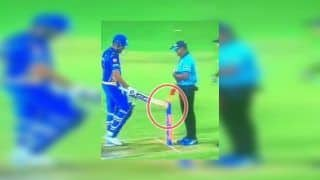 IPL 2019: Rohit Sharma Knocks Bails Down in Unsportsman-Like Behaviour After Dismissal During Kolkata Knight Riders vs Mumbai Indians | WATCH VIDEO