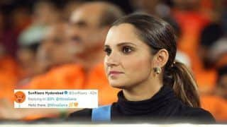 IPL 2019, SRH vs CSK: Sania Mirza Cheering For Hyderabad During Tie Against Chennai is Breaking Twitter | SEE POSTS