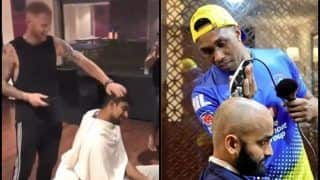 IPL 2019: After Dwayne Bravo, Ben Stokes Turns Barber For Ish Sodhi Ahead of RR v CSK | WATCH VIDEO