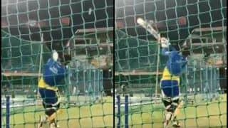 IPL 2019: 'Fit' MS Dhoni Returns For Chennai Super Kings, Smashes Ball in The Nets Ahead of RCB v CSK   WATCH VIDEO