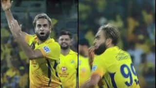 IPL 2019: Imran Tahir's New 'Whistle Podu' Celebration During CSK v KKR After MS Dhoni Stumps Shubman Gill is Unmissable | WATCH VIDEO