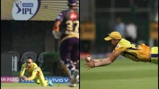 IPL 2019: Faf Du Plessis Takes Stunning Running Catch to Send Robin Uthappa Packing For Golden Duck During KKR v CSK | WATCH VIDEO