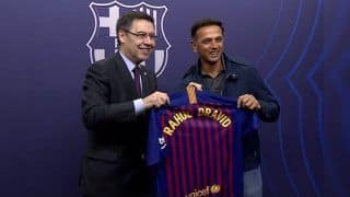 Rahul Dravid Pays a Visit to Barcelona's Camp Nou, Says 'Great to Watch Lionel Messi, Luiz Suarez Play' | WATCH VIDEO