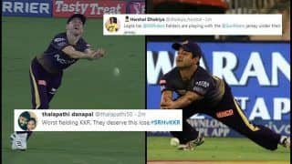 IPL 2019: Harry Gurney, Piyush Chawla Drop Catches, Dinesh Karthik's Captaincy During Sunrisers Hyderabad vs Kolkata Knight Riders, Twitter Trolls Poor Fielding | SEE POSTS