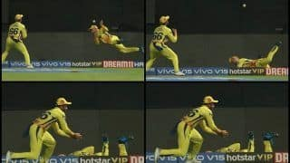 IPL 2019: Faf Du Plessis-Dhruv Shorey Take Stunning Relay Catch to Dismiss Marcus Stoinis During Royal Challengers Bangalore vs Chennai Super Kings | WATCH VIDEO