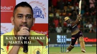 IPL 2019: MS Dhoni Awestruck by Andre Russell's Super Human Abilities to Hit Sixes, Says 'How Can Someone Hit Sixes Like That' Ahead of CSK v KKR | WATCH VIDEO