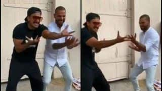 IPL 2019: Shikhar Dhawan Dancing With Ranveer Singh to Padmavat's Song is Unmissable | WATCH VIDEO