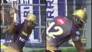 IPL 2019: Angry Andre Russell Smashes Bush After Imran Tahir Dismisses Him During KKR v CSK at Eden Gardens | WATCH VIDEO