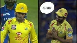 IPL 2019: When Shardul Thakur Said 'Sorry' to MS Dhoni After Misfield During MI v CSK at Wankhede | WATCH VIDEO