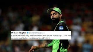 Michael Vaughan Wants BCCI to Rest Virat Kohli For 2019 World Cup After RCB's 6th Straight Loss in IPL | SEE POST