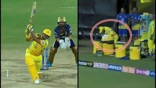 IPL 2019: Suresh Raina Hits a Six, Teammate Ravindra Jadeja Takes Catch Outside Boundary Ropes During CSK v KKR | WATCH VIDEO