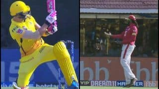 IPL 2019: Faf du Plessis Plays Scoop Shot During CSK v KXIP, Chris Gayle Copies it | WATCH VIDEO