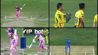 IPL 2019: MS Dhoni's Last-Minute Decision to Take DRS Pays Rich Dividends as Ajinkya Rahane Departs During RR v CSK | WATCH VIDEO