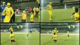 IPL 2019: MS Dhoni Plays Catch me if You Can' With Shane Watson's Kid After CSK Beat KXIP | WATCH VIDEO