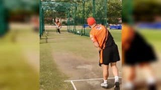 IPL 2019: David Warner Bowling to Kane Williamson in Nets Ahead of Sunrisers Hyderabad vs Kings XI Punjab is Unmissable | WATCH VIDEO
