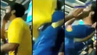 IPL 2019: MS Dhoni Gets Out, CSK Fan Slips Into MI Jersey at Wankhede Stadium   WATCH VIDEO