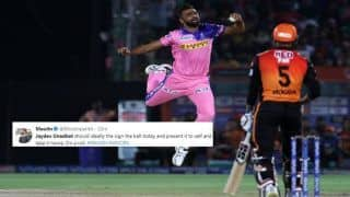 IPL 2019: Jaydev Unadkat Takes Brilliant Catch to Dismiss Deepak Hooda During Rajasthan Royals vs Sunrisers Hyderabad, Twitter Cannot Stop Praising Him | WATCH VIDEO & POSTS