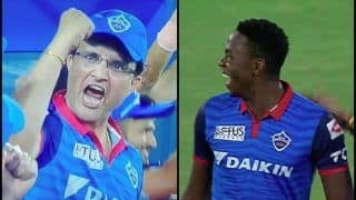 IPL 2019: Sourav Ganguly's Epic Reaction Will Remind You of Natwest Finals After Kagiso Rabada Removes David Warner During SRH v DC | WATCH