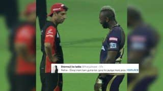 IPL 2019: Ashish Nehra-Andre Russell Engage in Banter During KKR v RCB, Twitter Cannot Stop Laughing | SEE POSTS