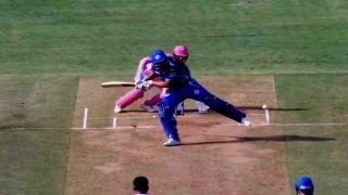 IPL 2019: Rohit Sharma Plays Most Bizarre Shot Ever, Kicks Ball With Pads During MI v RR   WATCH VIDEO